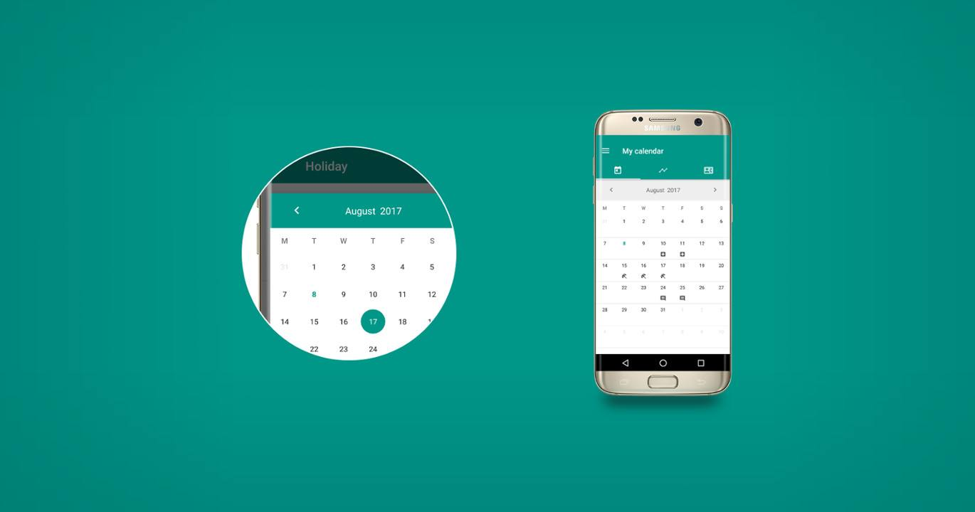 MaterialCalendarView - customizable calendar widget for Android
