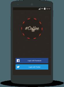Coffee break - #Coffee login screen