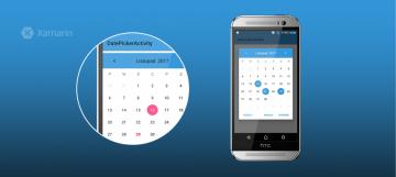 Customizable material calendar widget for Xamarin.Android platform - Customizable-material-calendar-widget-for-Xamarin