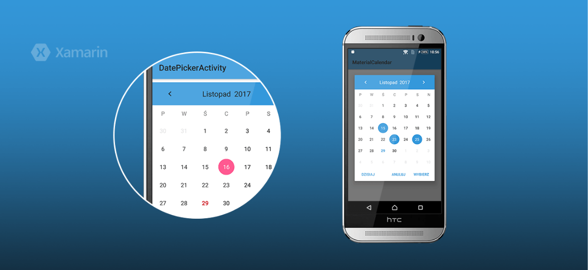 Customizable material calendar widget for Xamarin.Android platform - Customizable-material-calendar-widget-for-Xamarin