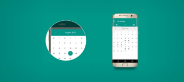 MaterialCalendarView – customizable calendar widget for Android - MaterialCalendarView-360x161